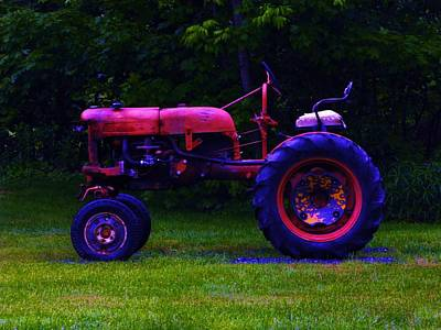 Photograph - Artful Tractor In Purples by Bill Tomsa