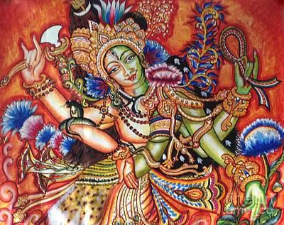 Painting - Arthanareeshwara by Kami A