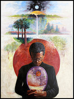 Painting - Arthur Ashe by John Lautermilch