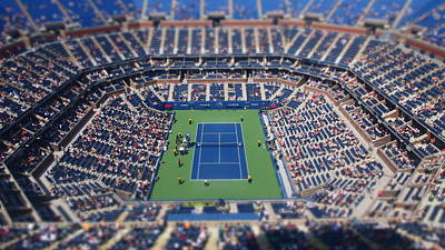 Ashe Photograph - Arthur Ashe Stadium Special Effect by Mason Resnick