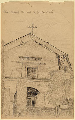 Dolores Drawing - Arthur B. Davies, Mission Dolores, San Francisco by Quint Lox