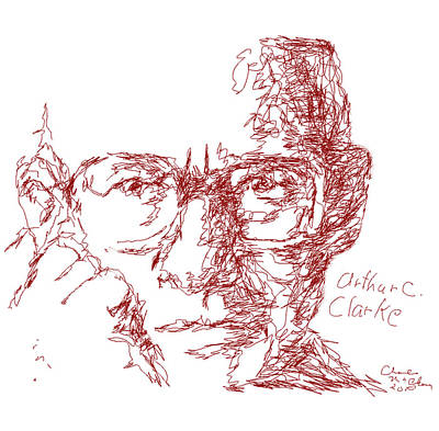 Arthur C. Clark Art Print by Charles McChesney