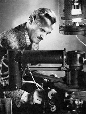 X-rays Of Photograph - Arthur Compton by Steven Deutch, Courtesy Aip Emilio Segre Visual Archives