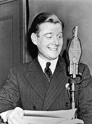 Arthur Godfrey Broadcasting Art Print by Underwood Archives