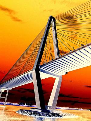 Arthur Ravenel Bridge 18 Art Print by Ron Kandt