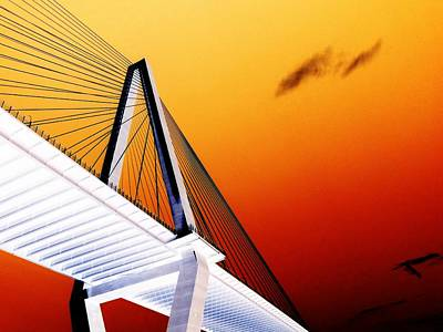 Arthur Ravenel Bridge 25 Art Print by Ron Kandt