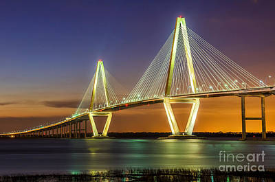 Arthur Ravenel Bridge Charleston Sc Art Print by Anthony Heflin