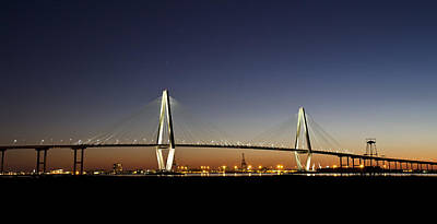 Photograph - Arthur Ravenel Jr Bridge At Twilight by Pierre Leclerc Photography