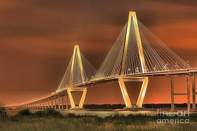 Photograph - Arthur Ravenel Jr. Bridge Charleston Sc by Adam Jewell