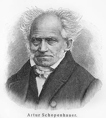 Old People Sketches Drawing - Arthur Schopenhauer by Oprea Nicolae