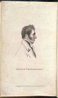 Portaits Photograph - Arthur Thistlewood by British Library