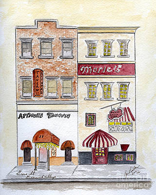 Greenwich Village Painting - Arthur's Tavern - Greenwich Village by AFineLyne
