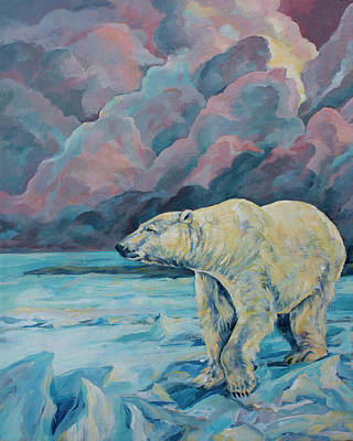 Nanook Painting - Artic Wanderer by Derrick Higgins