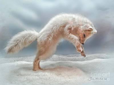 Artic White Wolf Art Print by Joan  Minchak
