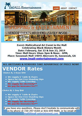 Abercorn Painting - Articain And Vendors by Multicultural Art Event
