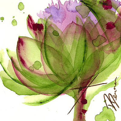 Artichoke Flower Art Print by Dawn Derman