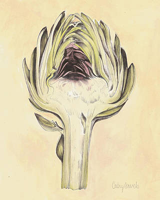 Artichoke Mixed Media - Artichoke II Print by Cathy Savels