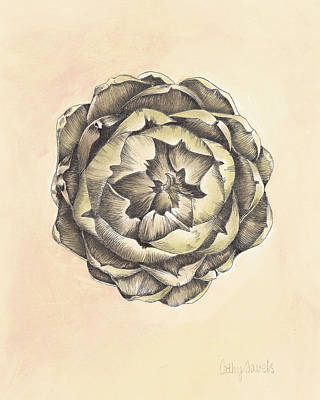 Artichoke Mixed Media - Artichoke IIi Print by Cathy Savels