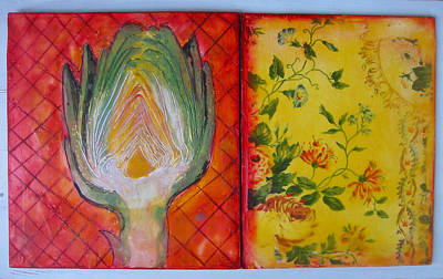 Artichoke Mixed Media - Artichoke by Karen Severson