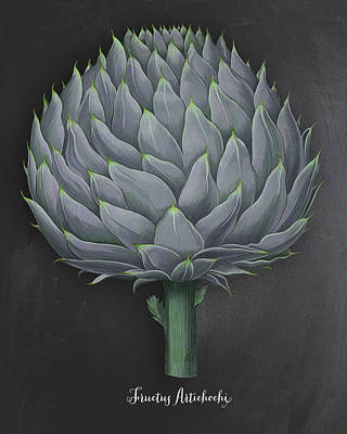 Folk Art Digital Art - Artichoke Kitchen Art Print by Natalie Skywalker