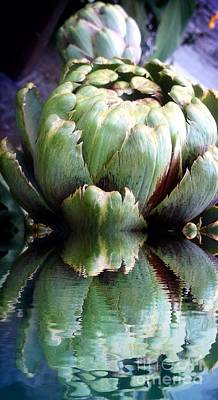 Photograph - Artichoke Reflect by Susan Garren