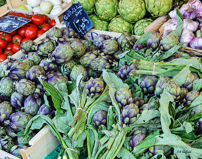 Photograph - Artichokes At The Market by Allen Sheffield