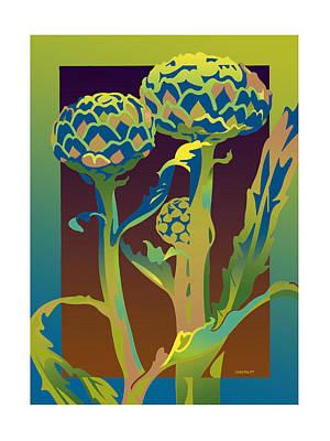 Artichoke Digital Art - Artichokes by David Chestnutt