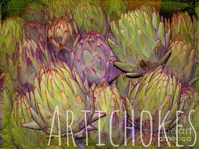 Photograph - Artichokes by Judi Bagwell