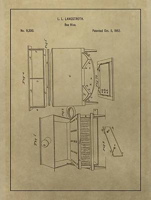 Production Drawing - Artificial Bee Hive Patent by Dan Sproul