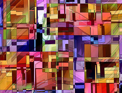 Separation Digital Art - Artificial Boundaries by Ginny Schmidt