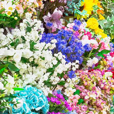 Artificial Flowers Art Print