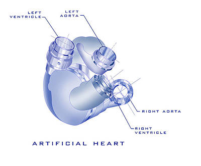 Power Painting - Artificial Heart by James Christopher Hill