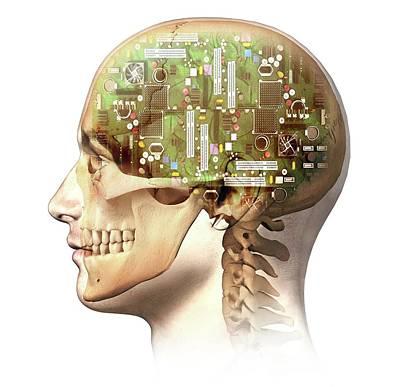Artificial Intelligence Photograph - Artificial Intelligence by Leonello Calvetti