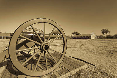 Historic Site Photograph - Artillery At Fort Larned National by Panoramic Images