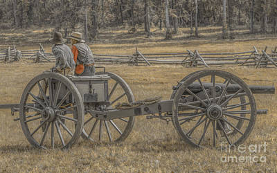 Artillery To The Front Art Print by Randy Steele