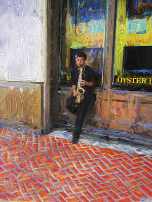 Photograph - Saxophone Player Y1 by Carlos Diaz