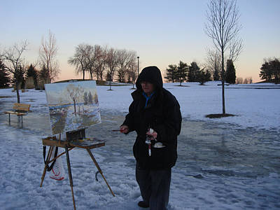 Outdoor Wall Art - Photograph - Artist At Work Lake Shore Mississauga On by Ylli Haruni