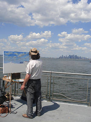 Artist At Work Photograph - Artist At Work Manhattan  by Ylli Haruni