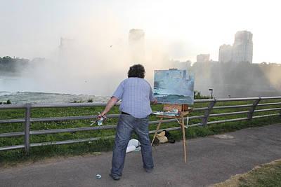 Outdoor Wall Art - Photograph - Artist At Work Niagara Falls Ny by Ylli Haruni