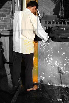 Artist At Work Part Two Art Print by Sir Josef - Social Critic -  Maha Art