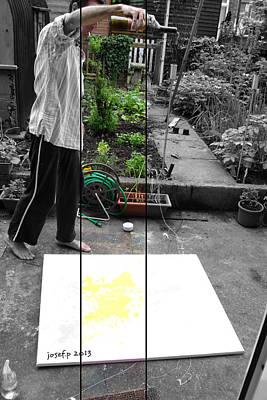 Artist Working Photograph - Artist At Work Three by Sir Josef - Social Critic -  Maha Art