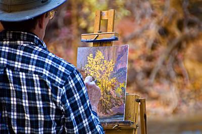 Artist At Work - Zion Art Print