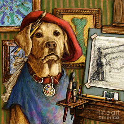Retrievers Mixed Media - Artist Lab by Kathleen Harte Gilsenan