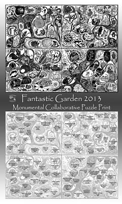 Relief - Artist Map Fantastic Garden 2013 by Maria Arango Diener