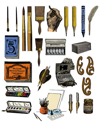 Artist Materials Art Print by Science Source