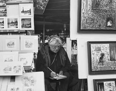 Artist Montmartre Art Print by Hugh Smith