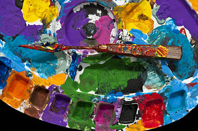 Photograph - Artist Palette With Paint Knife  by Jim Corwin