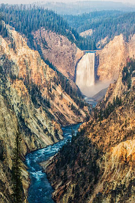 Water Falls Photograph - Artist Point In Yellowstone by Andres Leon