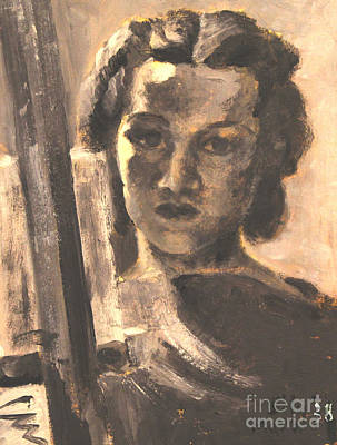 Painting - Artist Self Portrait 1938 by Art By Tolpo Collection