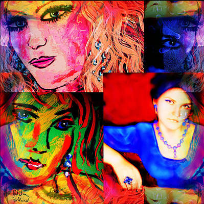 Self-portrait Mixed Media - Artist Self Portrait by Natalie Holland